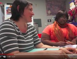 Two teachers in collaborative inquiry conversation