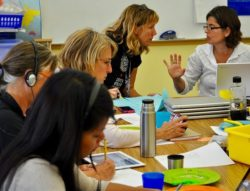 Teachers at work during an inquiry session
